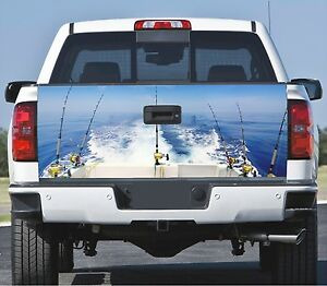 Truck Tailgate Wrap Decal Boat Trolling 3m Cast Vinyl 10yr