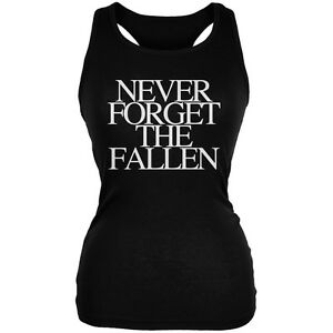 Details about never forget the fallen black juniors soft tank top