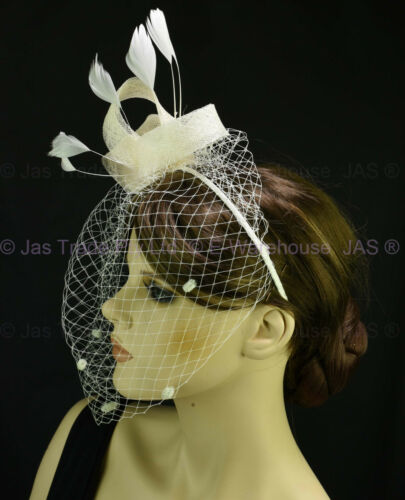 Spring Racing Race Party Melbourne Cup Feather Headband Hairband Fascinator Veil