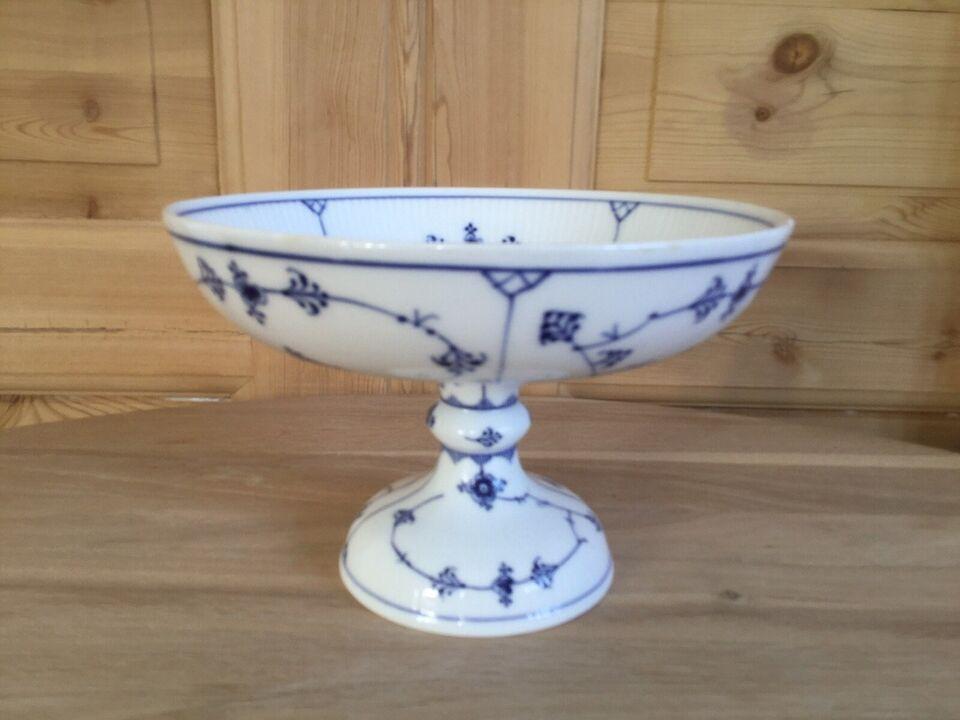 Porcelæn, Pedistalskål med lille afslag, Royal