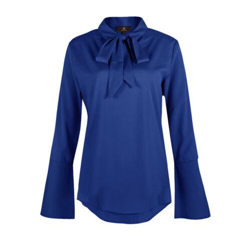 TOP Langarm Shirt Pullover Bluse Oberteil Rüschen Schwarz Blau Gelb S 2X KG5