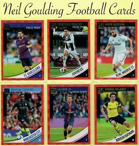 DONRUSS SOCCER 2018-2019 ☆ RED PRESS PROOF PARALLEL ☆ Club Cards #1 to #87