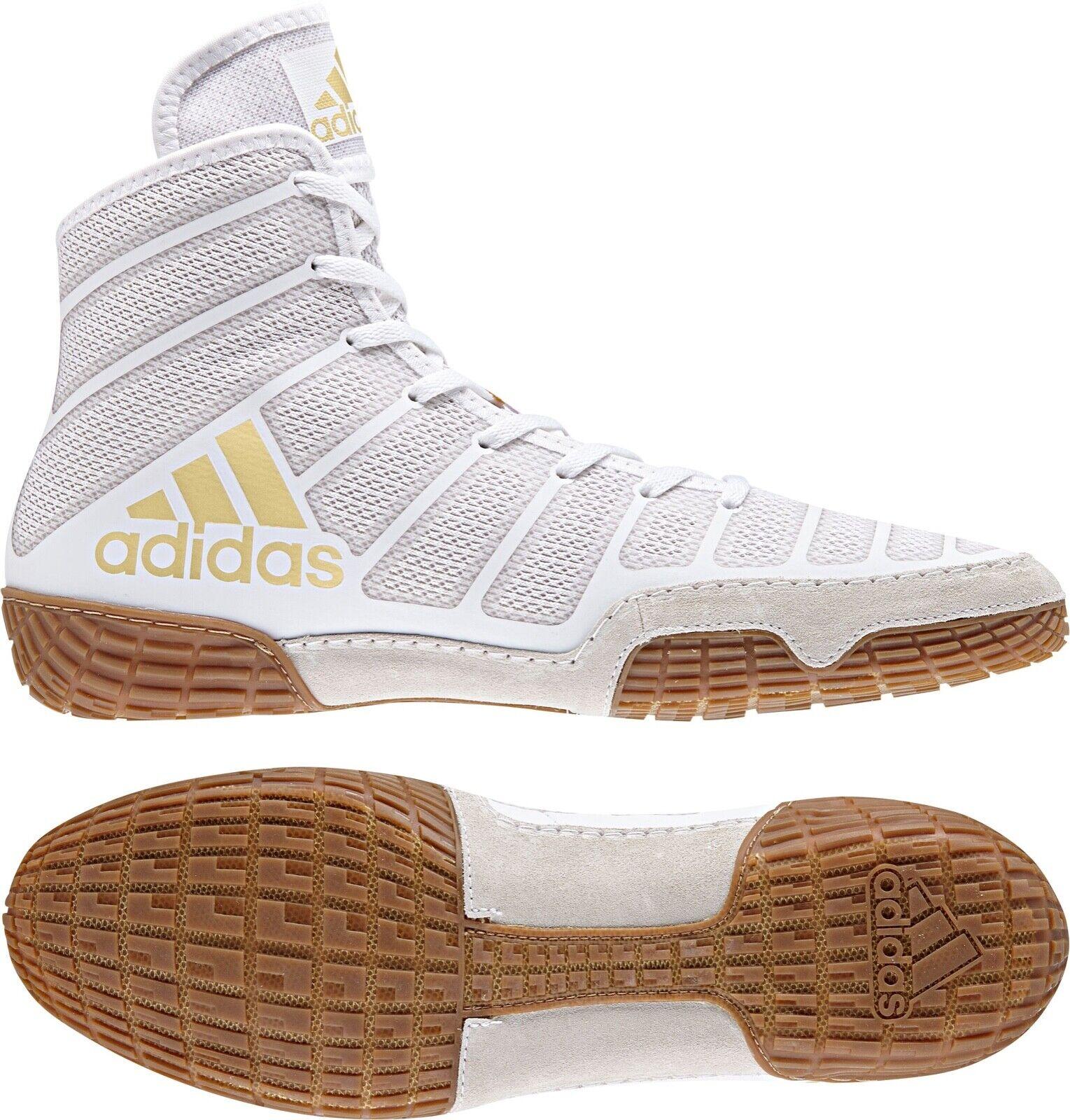 adidas Adizero John Varner Wrestling Shoes Da9891 White Gold Men Size 6