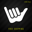 Hang Loose Shaka Hands Vinyl Decal StickerSurfer Hawaiian Awesome 430
