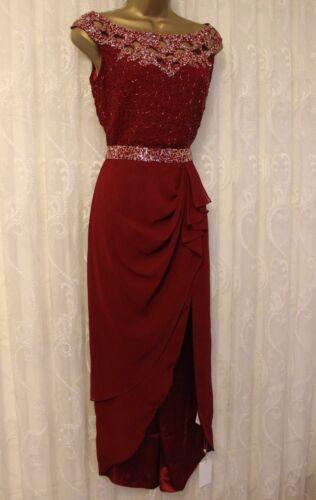 midi Midi Lounge Robe Marron 8 Wrap de 36 enrichie mariage Virgos de soirée bmIyv76fgY
