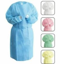 Disposable Dental Isolation Gown With Knitted Cuff Sms Material 50case