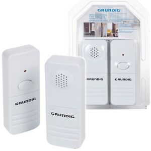 Grundig-Wireless-Doorbell-Portable-Chime-Battery-Operated-50m-Range-Home-Loud