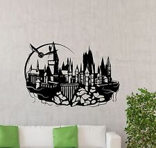 Hogwarts Wall Decal Harry Potter Castle Vinyl Sticker Kids Art Decor Mural 80ct