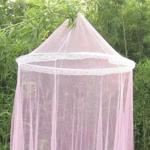 Mosquito Net Round Pretty Lace Curtain Bed Netting Summer Anti-Insect Mesh Dome