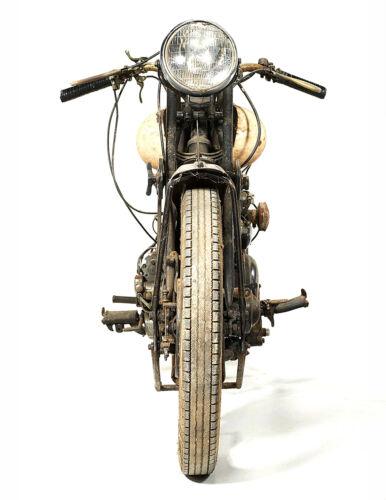 Vintage Motorcycle poster//print 1932 Brough Superior Black Alpine 680 17x22