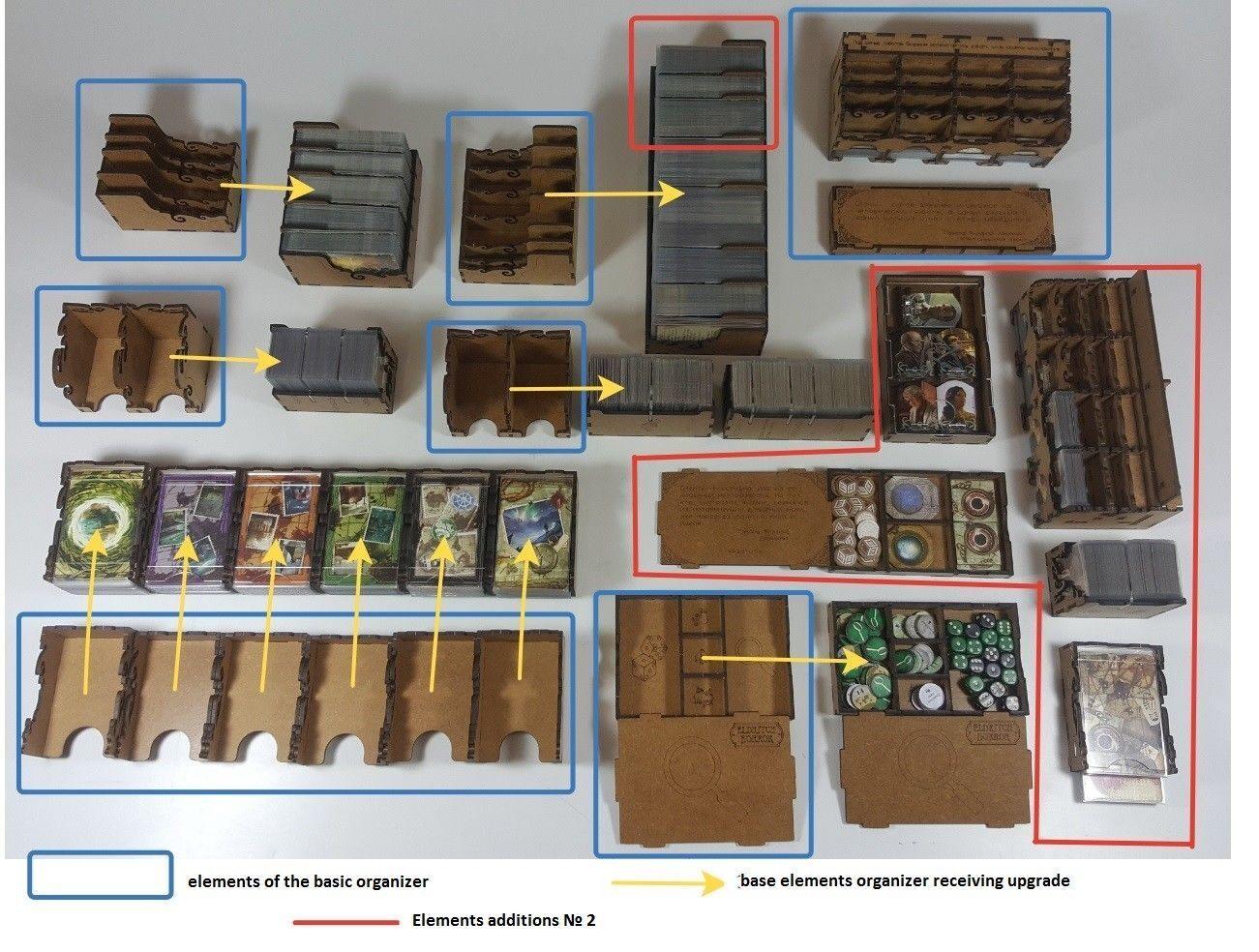 Boîte Game Premium Organisateur pour Board Game Fantasy Figure Gallery Eldritch Horreur jeu supplémentaire