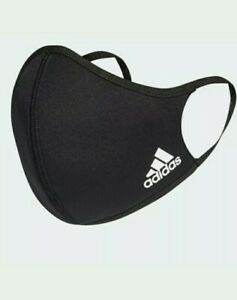 1-x-Adidas-Face-Cover-In-Black-White-Adidas-Stripes-L-Size-Wear-Wash-amp-Dry