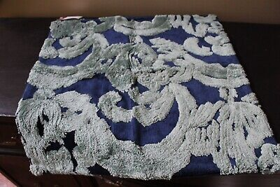 Nwt Pottery Barn Natalia Silk Jacquard Pillow Cover Indigo