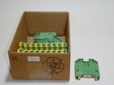 2774211- Schraubanschluss Grün-Gelb UKK5-PE 50 x Schutzleiter-Reihenklemme