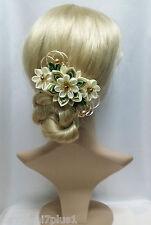 Franzözische Haarspange Haarschmuck Kanzashi Brautschmuck Satinblume Haarblume
