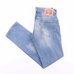Vintage-Levi-039-s-511-Slim-Straight-Fit-Herren-Blue-Jeans-w30-l31
