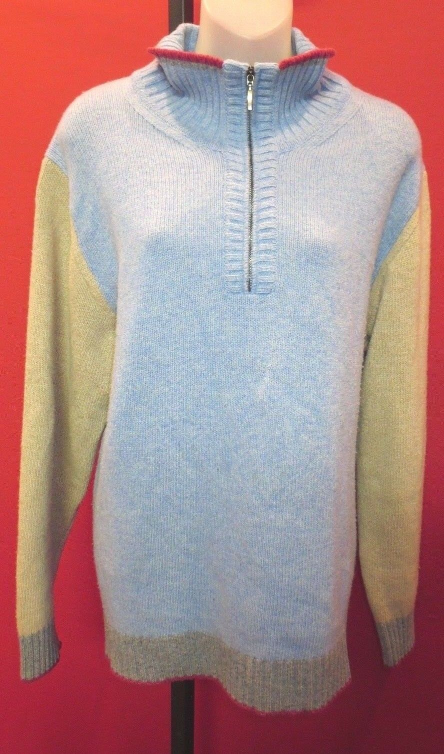 CARROLL & CO.  100% Baby Merlino Wool Multi-Farbe Collegiate sweater XL