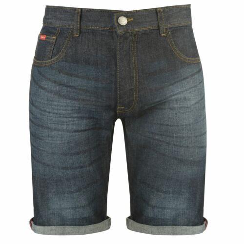 LEE COOPER Denim Shorts pour Hommes Gents Pantalon Pantalon De Coton Zip