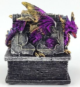 Dragon Trinket Box Statue Mythical Fantasy Renaissance Jewelry Stash Box
