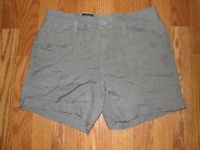 Womens Calvin Klein Sage Green Cargo Linen Shorts Size 2