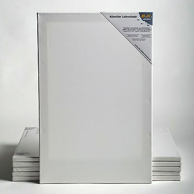 "10 ART-STAR STRETCHED CANVASES~20/""x24/"" 100/% cottonstretcher bars primed"