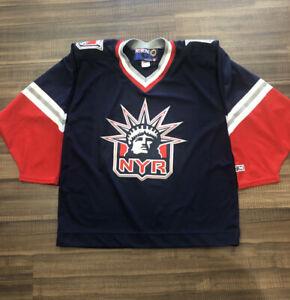 Vintage CCM New York Rangers Lady Liberty NHL Hockey ...