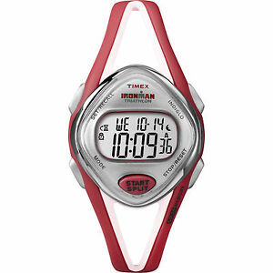 Timex Ironman Women's   Red Strap Red Case Sleek 50 Lap   Sport Watch T5K787