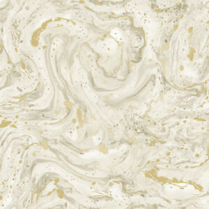Details About Minerals Azurite Marble Foil Wallpaper Beige Gold
