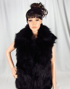 Adrienne-Landau-Fox-Fur-Vest-with-Rabbit-Fur-Back-Small-or-Large-795-MSRP-NWT