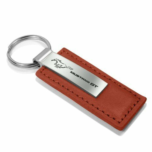 Ford Mustang GT Brown Leather Key Chain