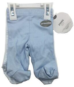 Koala-Baby-Blue-Preemie-2-Pack-Pants-Bottoms-New-Free-Shipping-100-Cotton