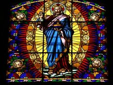 MONTALCINO CHURCH STAINED GLASS WINDOW POSTER 27x36 HI RES