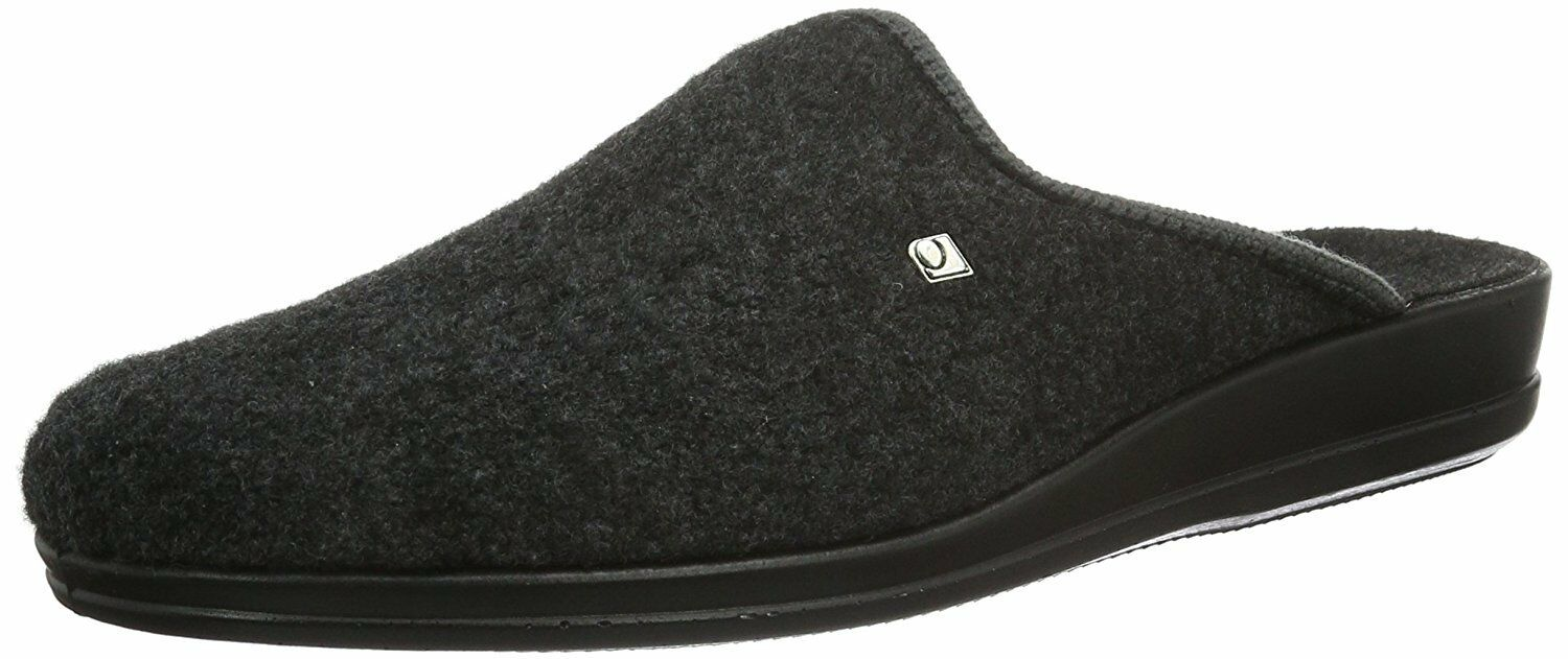 Rohde Mens Slippers Grey Size 41 43 2683 Width G Slippers Loden