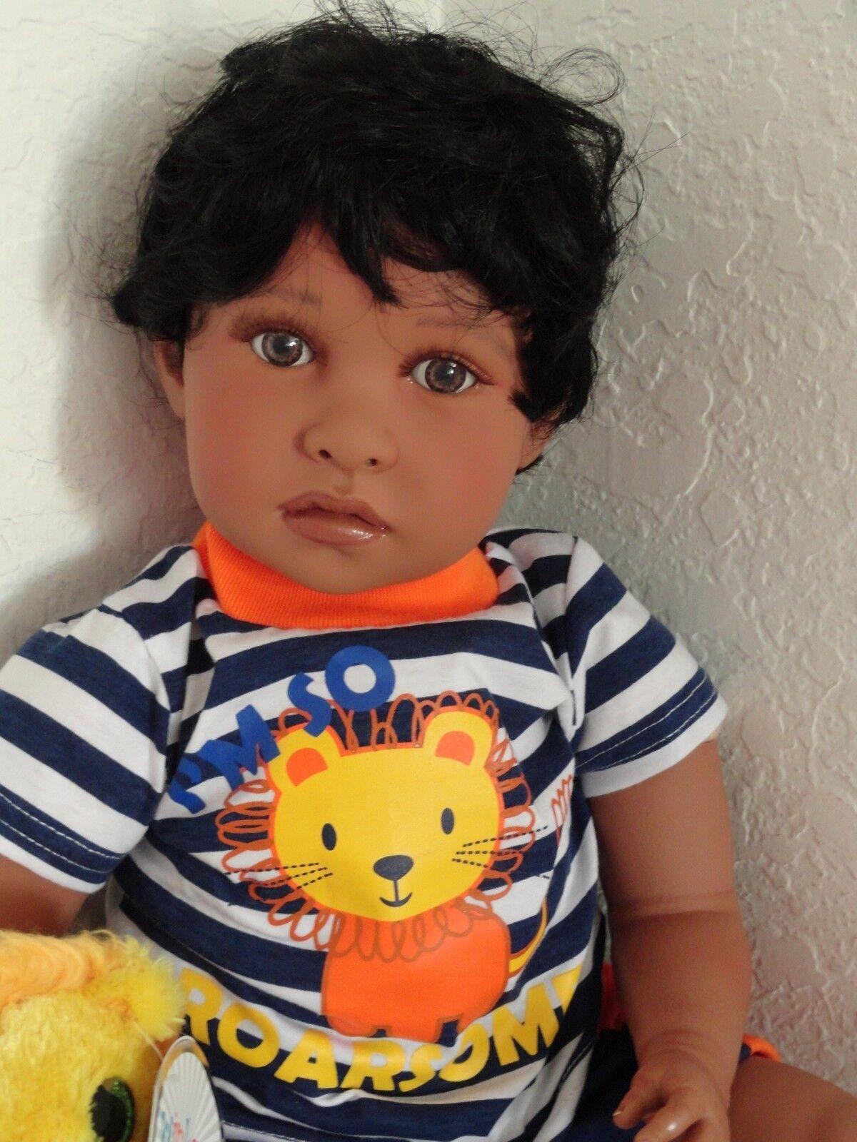 Reborn 22  African American étnica Bebé Niño del niño hispano Muñeca  Aaron  -
