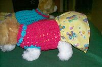 Dog Apparel Soft Pixie Pink Dress W/cutesy Bug Skirt Xs