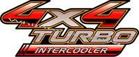 2 X toyota Hilux 4x4 Turbo Intercooler Truck Decal Sticker