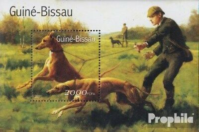 Never Hinged 2001 Dogs Spare No Cost At Any Cost Stamps Guinea-bissau Block336 Unmounted Mint
