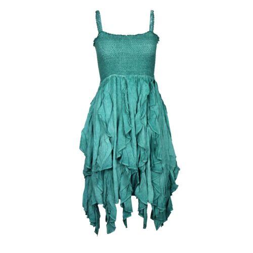Khujo Kleid langes Trägerkleid Bandeau abnehmbare Träger