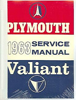 1963  63  PLYMOUTH BELVEDERE// VALIANT// FURY SHOP MANUAL