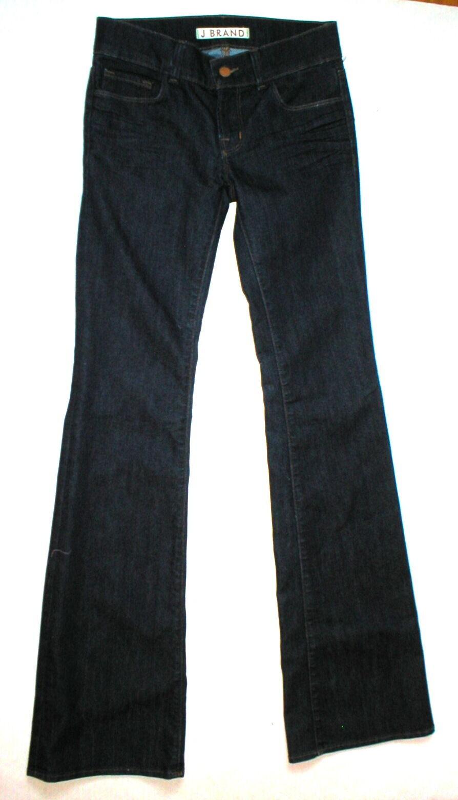 Nouveau Designer J Brand Jeans très Foncé Flare 25 Femme 34.5 grande Größe basse