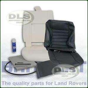 Twill-Vinyl-Outer-Seat-Re-trim-Kit-c-w-Glue-Land-Rover-Defender-to-07-DA5627