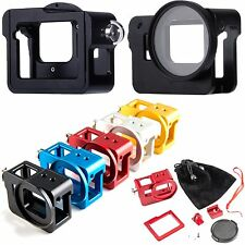 Protective Shell Skeleton Cage Case Cover + 52mm UV Lens Filter For Gopro Hero 5