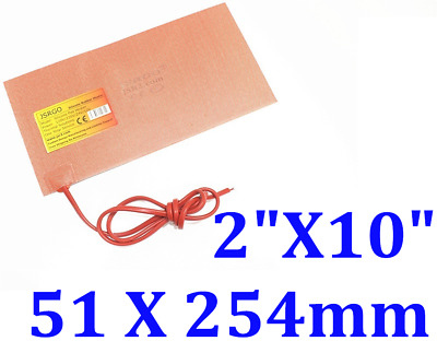 """1/"""" X 11.8/"""" 25 X 300mm 12V 10W w// 3M iThermal CE UL Silicone Rubber Heaters 4 PCs"""