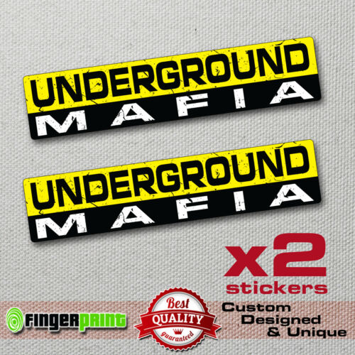 UNDERGROUND MAFIA sticker decal funny bumper car 4X4 JDM BIKE SPEED RACE WV JEEP