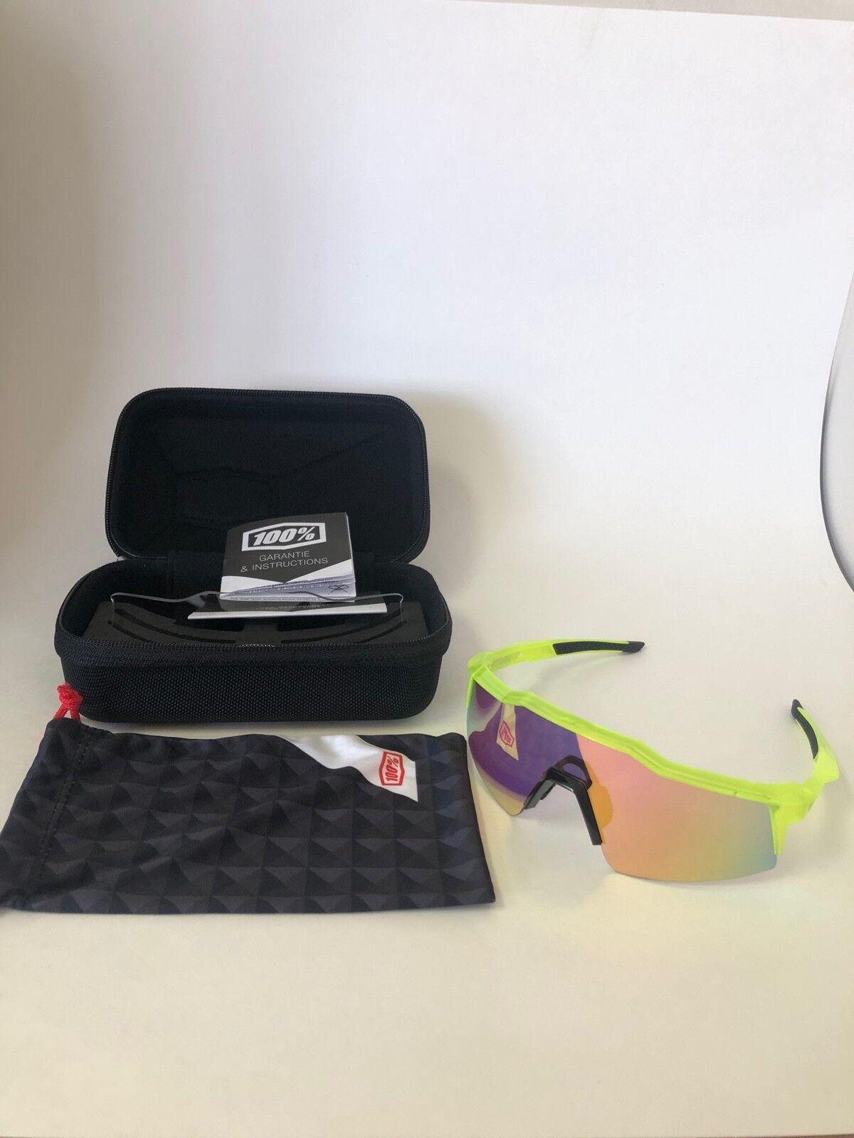 Sun Glasses, 100% Speedcraft, Road, MTB. orange White