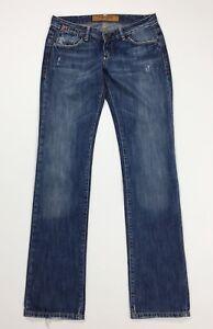 Uniform-jeans-donna-usato-W29-tg-43-denim-blu-slim-gamba-dritta-boyfriend-T4462