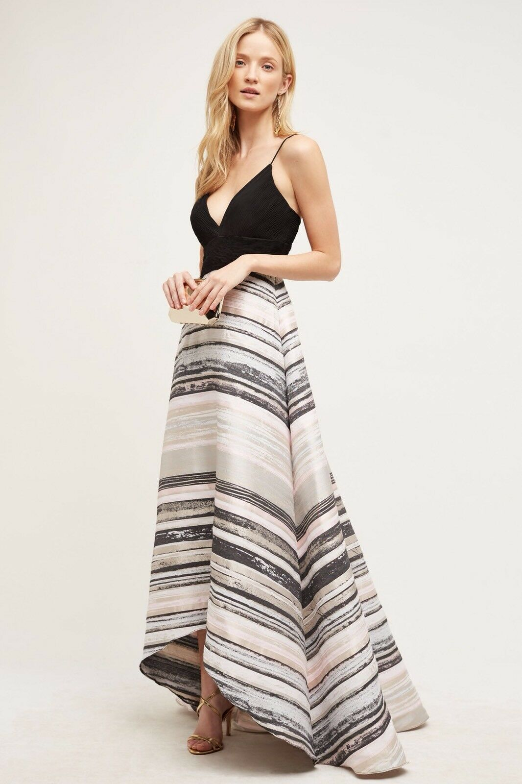 NWoT Anthropoligie Womens Miramare Gown By BaDgley Mischka Size 4 Sold Out