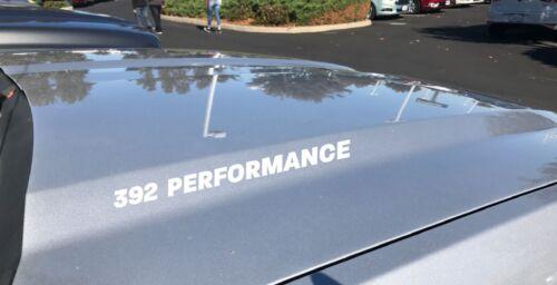 392 Performance Hood Decal Dodge Challenger Charger HEMI Scat Pack V8 SRT White