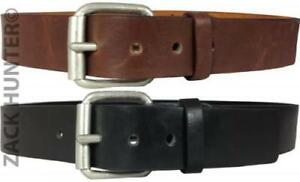 MENS-REAL-LEATHER-BELTS-1-5-034-BELT-IN-BLACK-amp-BROWN-QUALITY-CHUNKY-BUCKLE-MB031
