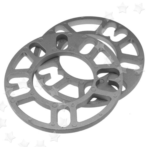 2 X 10MM ALLOY WHEEL SPACERS SHIMS SPACER UNIVERSAL 4 AND 5 STUD FIT
